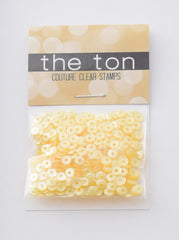 Yellow Belly Sequins - 10, 8, 6, 5, 4mm, Mixed