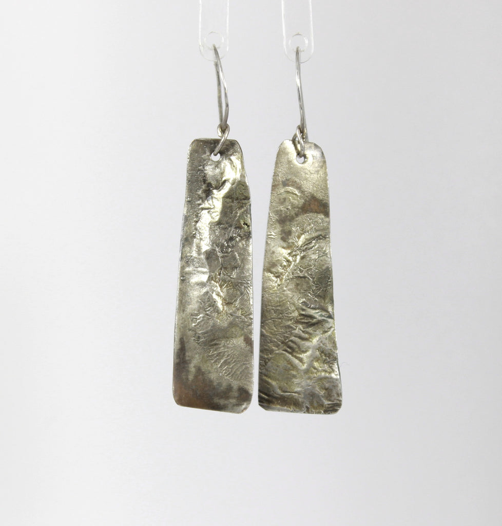 Mountain Range Copper and Sterling Earrings