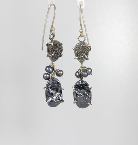 Sparkler Sterling Dangle Earrings