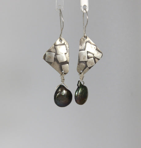 Confetti Sterling Pearl Dangle Earrings