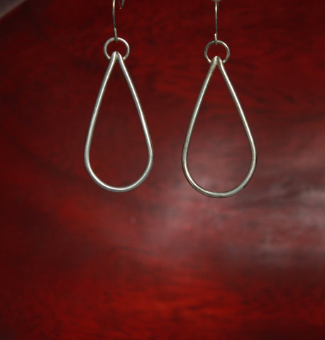 Simple Teardrop Sterling Hoops