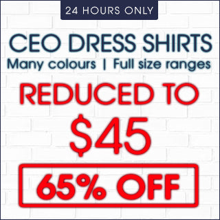 CEO Dress Shirts 65% Off | Click Frenzy 2015