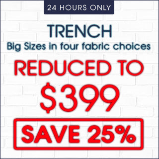 Trench Big Size Suits 25% Off | Click Frenzy 2015