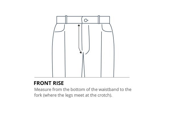 How to measure your front rise