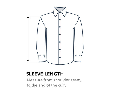 How to measure your shirt sleeve length