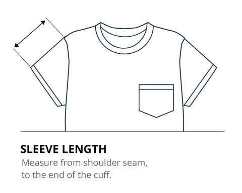 How to measure your sleeve length
