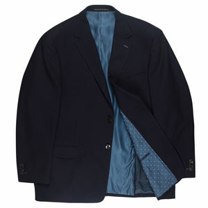 Rembrandt Navy Textured Wool/Cotton Jacket