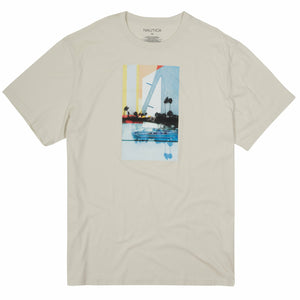 Nautica Sailboat Tee Off White