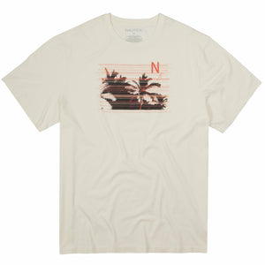 Nautica Palms Tee in Cream