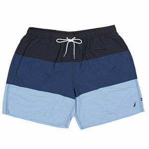 Nautica ColorBlock Swim Trunk in Navy