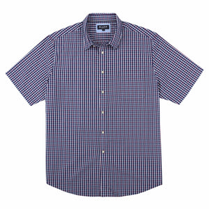 Blazer Wyatt Short Sleeve Shirt in Navy Check