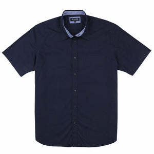 Blazer Oliver Short Sleeve Shirt in Navy Print