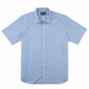 Blazer Ethan Short Sleeve Shirt in Aqua Check