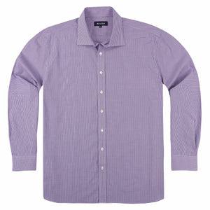 Blazer Georgia Business Shirt in Purple Fine Check