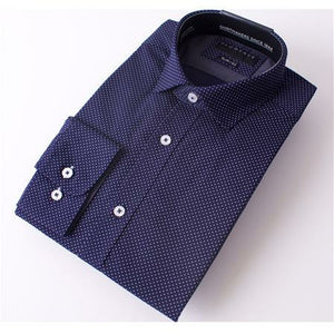 Gloweave The Essential Navy Pin Dot Print