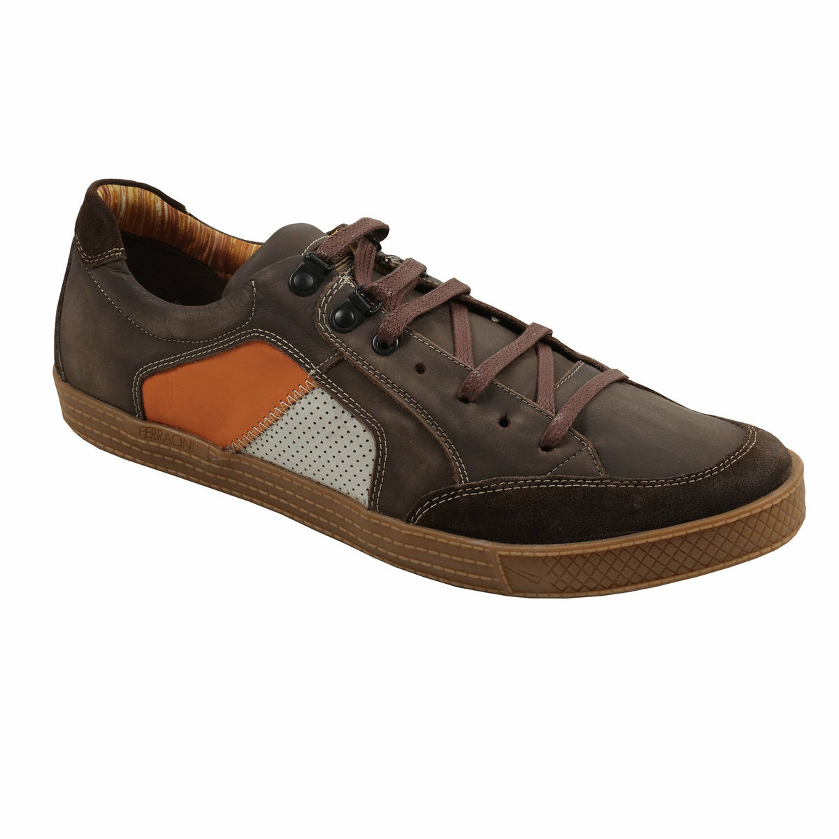 "Ferracini ""Uston"" Casual Shoes in Brown - Ron Bennett Big Men's Clothing"