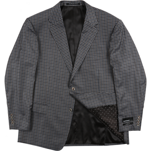 Rembrandt Sports Jacket in Grey Check - Ron Bennett Big Men's Clothing - 1