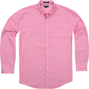 Gant 'The Breton' Shirt in Pastel Pink - Ron Bennett Big Men's Clothing - 1