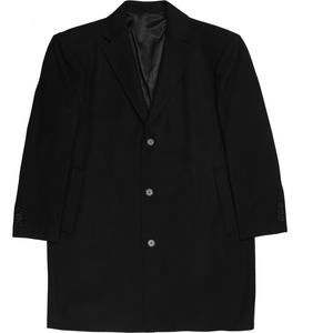 Bennett Heritage Winter Overcoat in Black - Ron Bennett Big Men's Clothing - 1