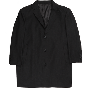 Bennett Heritage Winter Overcoat in Charcoal - Ron Bennett Big Men's Clothing - 1