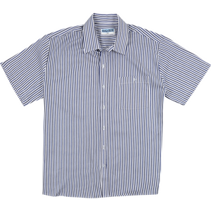 Koala Short Sleeve Shirt in Blue Stripe - Ron Bennett Big Men's Clothing - 1