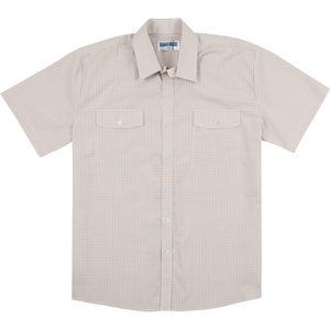 Koala Short Sleeve Shirt in Sand - Ron Bennett Big Men's Clothing - 1