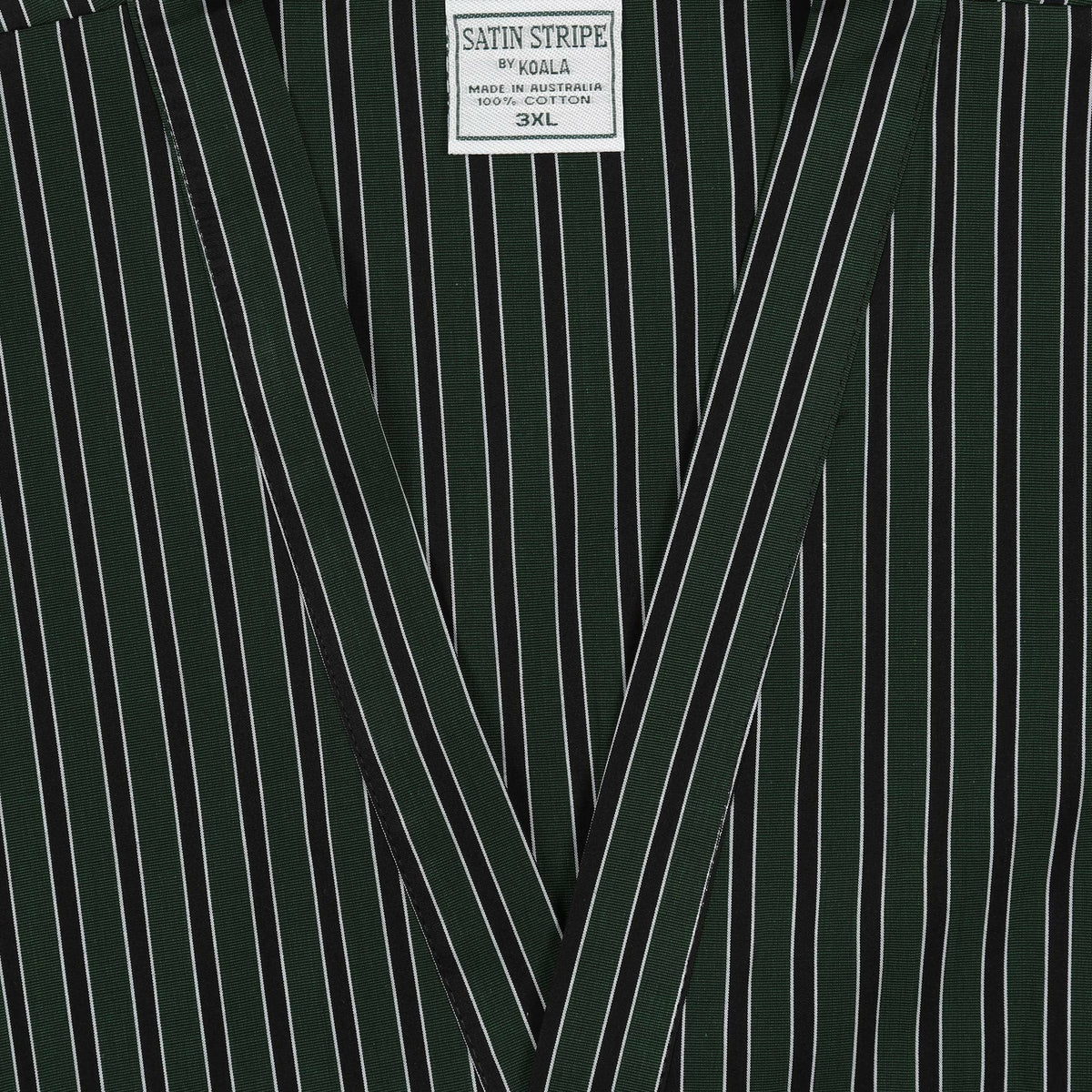 Koala Night Gown in Green Stripe - Ron Bennett Big Men's Clothing - 2