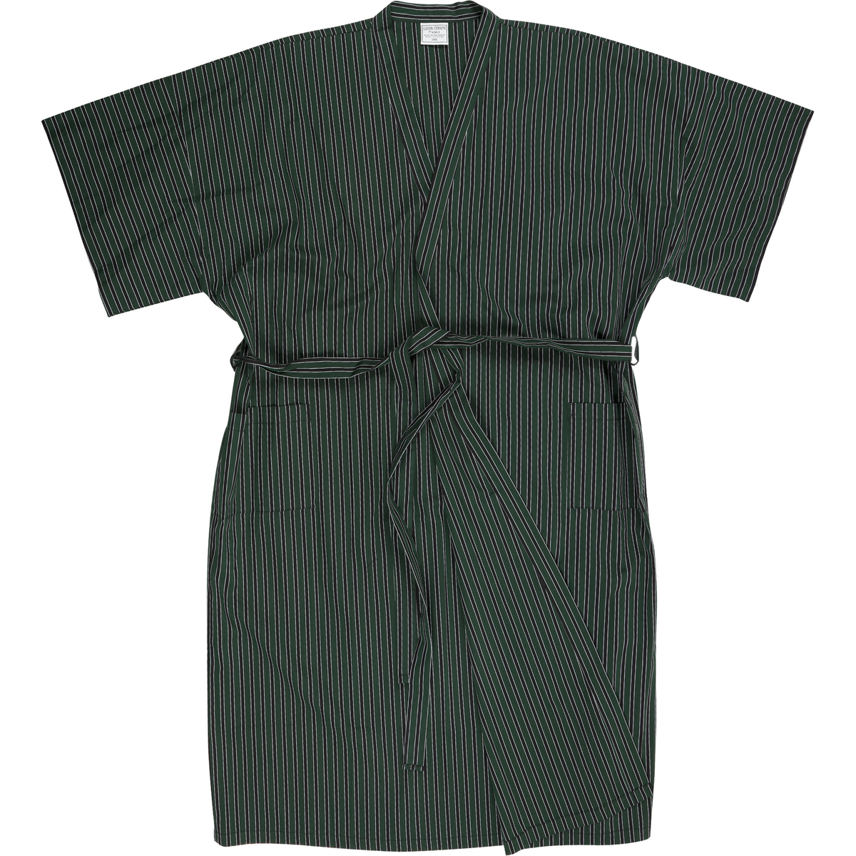 Koala Night Gown in Green Stripe - Ron Bennett Big Men's Clothing - 1