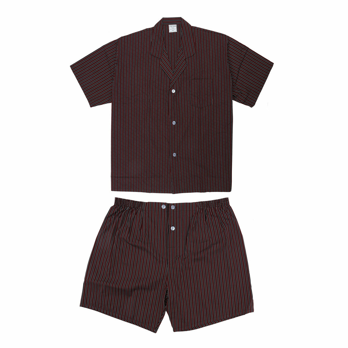 Koala Cotton Pyjama Set in Burgundy