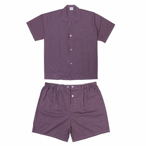 Koala Summer Cotton Pyjama Set in Burgundy
