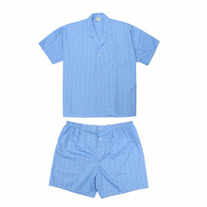 Koala Summer Cotton Blend Pyjama Set in Sky