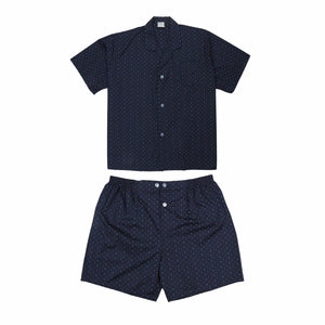 Koala Summer Cotton Blend Pyjama Set in Navy
