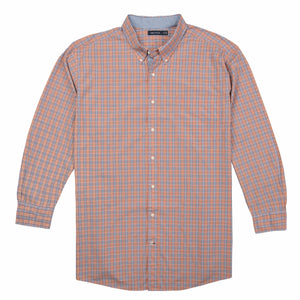 Nautica Long Sleeve Plaid Shirt in Pale Coral