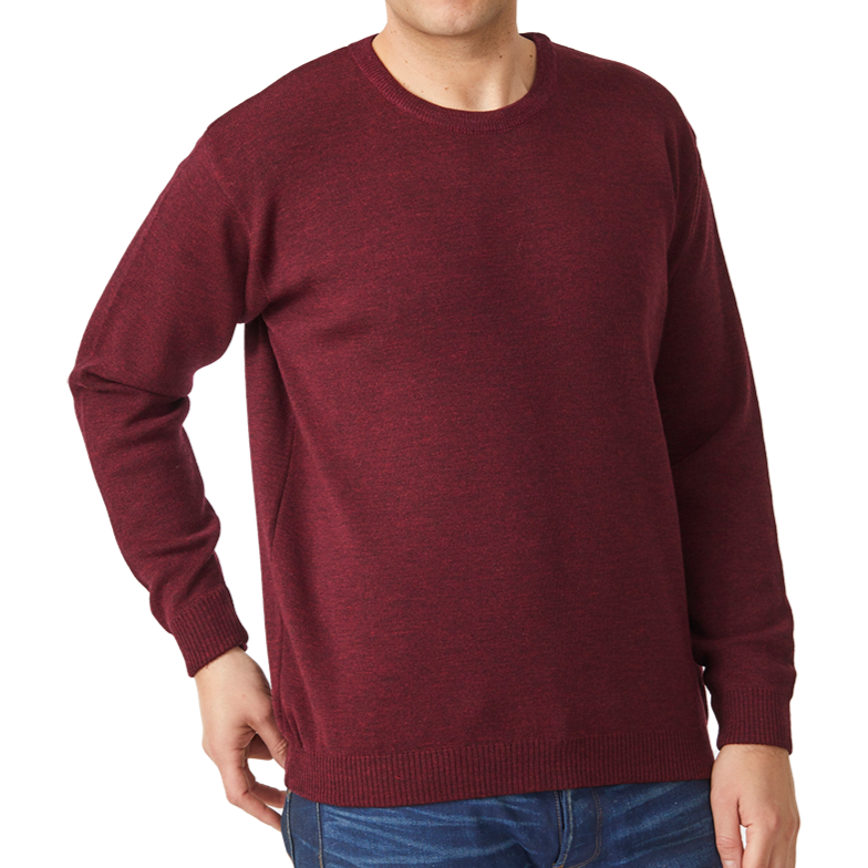 Merino Crew Sweater - Ron Bennett Big Mens