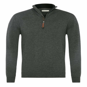 R.M. Williams Ernest Sweater in Charcoal
