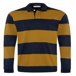 R.M. Williams Tweedale Rugby Top in Navy/Tan