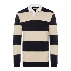 R.M. Williams Tweedale Rugby Top in Navy/Bone