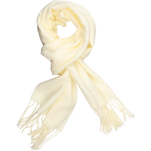 Sovrano Cashmere-Feel Scarf in White - Ron Bennett Big Men's Clothing