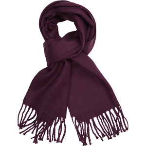 Sovrano Cashmere-Feel Scarf in Purple - Ron Bennett Big Men's Clothing