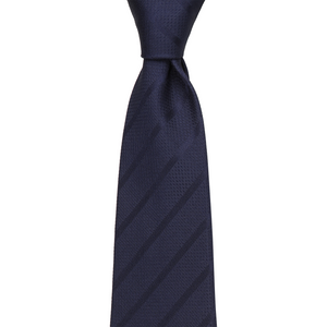 Bennett Signature Silk Tie in Dark Blue - Ron Bennett Big Men's Clothing - 1
