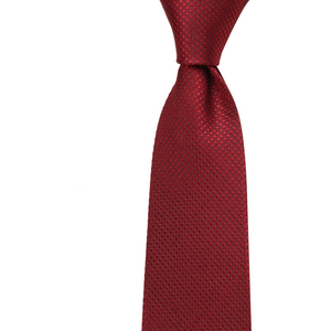 Bennett Signature Silk Tie in Red - Ron Bennett Big Men's Clothing - 1