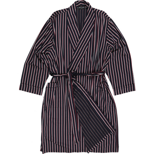 Pierre Cardin Bath Robe in Navy Stripe - Ron Bennett Big Men's Clothing - 1