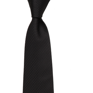 Bennett Signature Silk Tie in Black - Ron Bennett Big Men's Clothing - 1