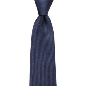 Bennett Signature Silk Tie in Navy - Ron Bennett Big Men's Clothing - 1