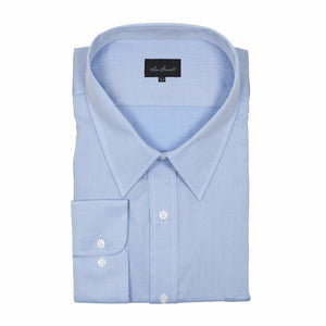 "Ron Bennett ""Easy-Care"" Cotton Business Shirt in Sky"