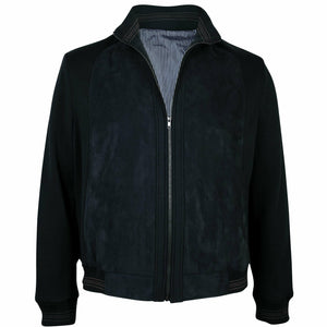 Ron Bennett Blouson in Black - Ron Bennett Big Men's Clothing - 1
