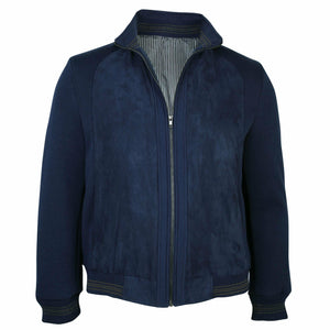 Ron Bennett Blouson in Navy - Ron Bennett Big Men's Clothing - 1