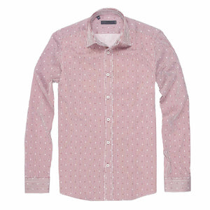 CEO Dress Casual Shirt in Red - Ron Bennett Big Men's Clothing - 1