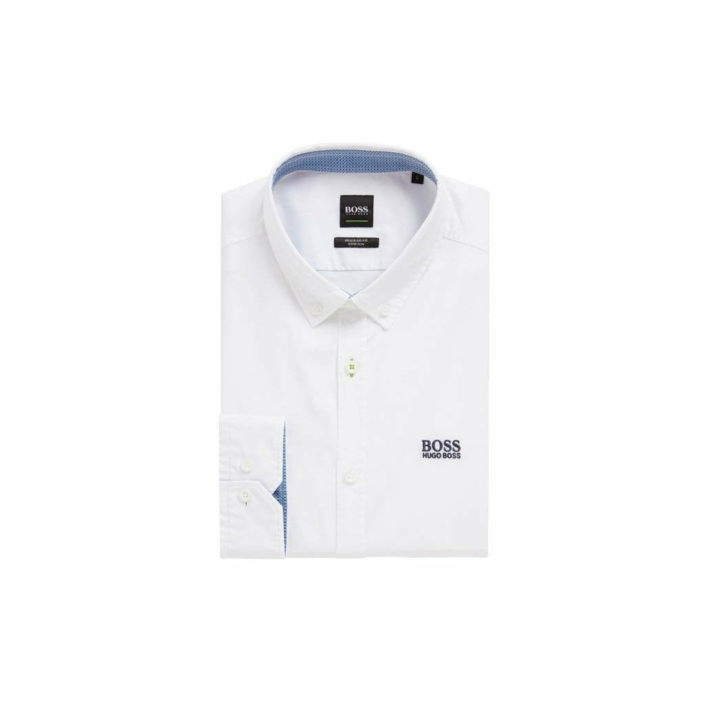 Hugo Boss Biado Stretch Poplin Cotton Casual Shirt