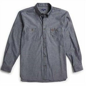 Gloweave Long Sleeve Black Classic Chambray Shirt